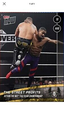 2019 NXT TAKEOVER TORONTO TOPPS NOW STREET PROFITS Topps WWE Slam Digital Card
