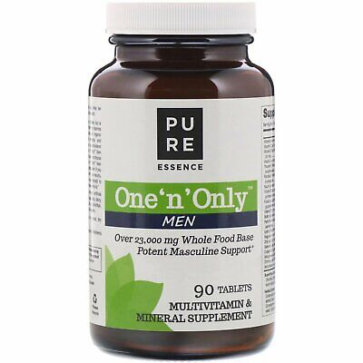 Pure Essence One n Only Men Multivitamin and Mineral 90 Tablets