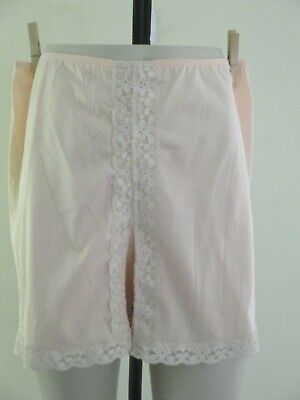 Vintage Sears Panti-Slip Pettipants Peach Panties Bloomers Nylon Lace Usa Small