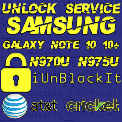Galaxy Note 10 10+ ATT cricKet Xfinity Spectrum Unlock Service