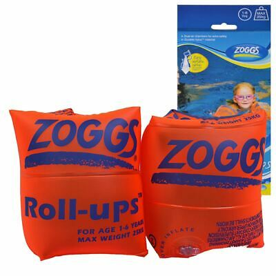 Zoggs Roll Ups Armbands Arm Bands - Orange - 1-6 Years