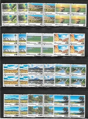 Argentina 2019 National Parks Permanent Issues 12 Blocks of 4 MNH FULL SET !