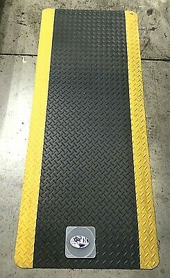 "NOTRAX CUSHION ANTI-FATIGUE MAT 5'x2'x9/16""FT FLOOR MAT LOT OF 2"