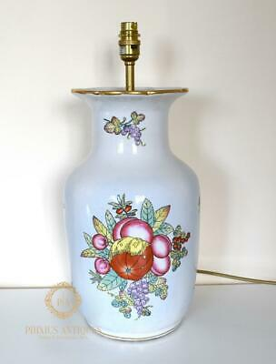 Vintage Chinese Handpainted Fruits Porcelain Vase Table Lamp