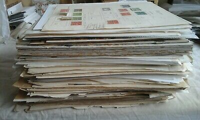 Box with big pile of leaves containing assorted WORLD stamps. 5.708Kg