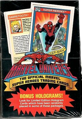 1990 Impel Marvel Universe Series 1 Sealed Box Of 36 Packs