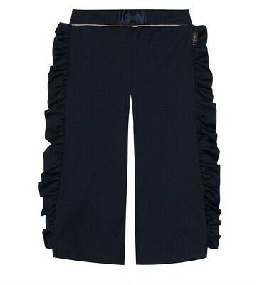 Baker by Ted Baker Girls' Navy Ruffle Trousers Age 12-13 Years