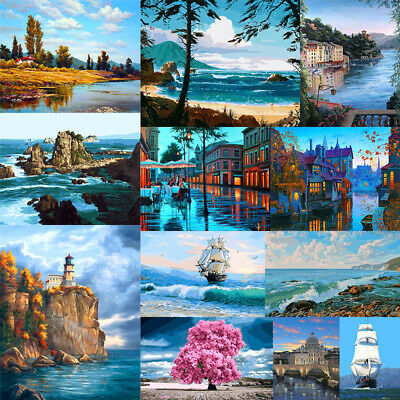 DIY Paint By Numbers Kit Digital Oil Painting Artwork Wall Home Decor Scenery