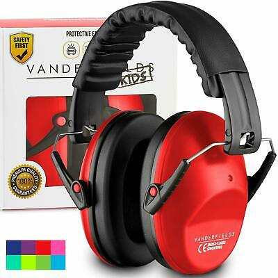 Ear Defenders For Kids Toddlers Autism Hearing Protection Noise Reduction Red