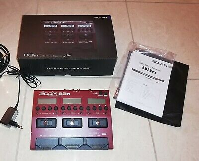 Zoom B3N Bass Pedal Multy Effects Processor Amps Metronome Tuner