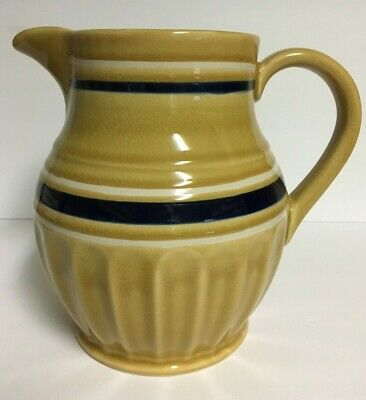 Yellow Ware Collection by Park Designs Large Water Pitcher ~Yellow, Blue & White