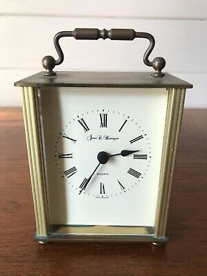 Vintage Collectable Carriage Clock James C Huntington Quartz Germany Brass
