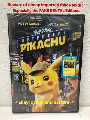 Pokemon: Detective Pikachu DVD Authentic U.S. Release Beware of Fakes Sold!