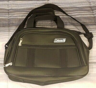 "Coleman Green Boarding Tote Luggage Plane Carry On Bag Item 15"" X 3"" X 10"""