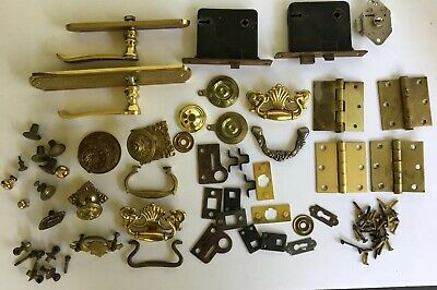 Mixed Lot of Hardware Drawer Pulls, Door Locks, Handles and More