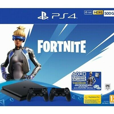 Sony Ps4 Slim 500Gb Fortnite Neo Versa Bundle + 2 Controllers Brand New Uk Uk