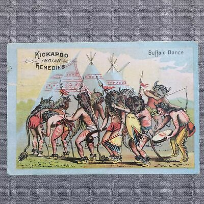 1880s CHROMOLITHOGRAPH TRADE CARD, KICKAPOO INDIAN REMEDIES - PATENT MEDICINE