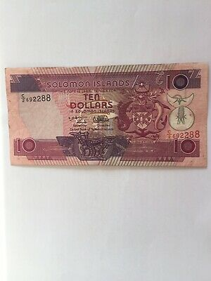 Circulated 10 Solomon Islands Note. Ideal For An Avid Note Collector.