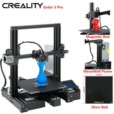Creality Ender 3 Pro 3D Printer 220X220X250mm MeanWell Power + Glass Bed US