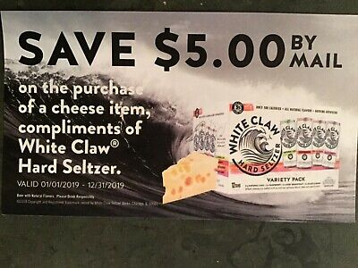 NEW (2) $5 White Claw Cheese NBPR Rebate Forms - $2 95