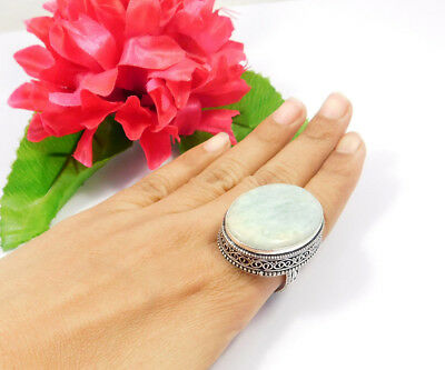 Amazonite .925 Silver Awesome Carving Ring Jewelry JC7509