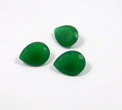 35 Cts. Natural Faceted Green Chalcedony Lot Loose Cabochon Gemstone NG21526