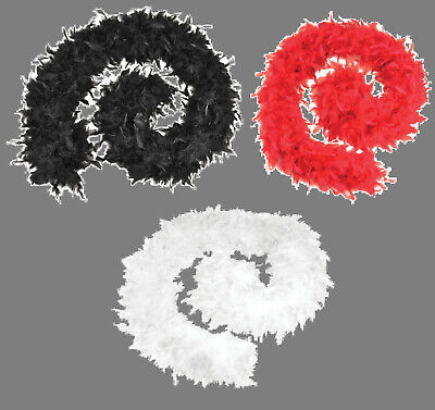 Feather Boa 80G White Red Black Burlesque Showgirl Fancy Hen Night Bulk Job Lot