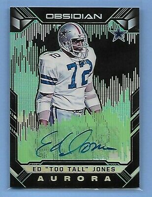 ED TOO TALL JONES - DALLAS COWBOYS - PANINI AUTOGRAPH - SERIAL #'d 04/25 - NICE!