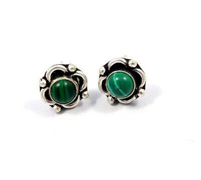 Turquoise .925 Silver Plated Handmade Stud Earring Jewelry JC8189