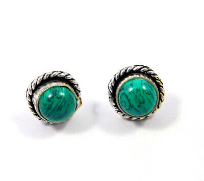 Turquoise .925 Silver Plated Handmade Stud Earring Jewelry JC8112