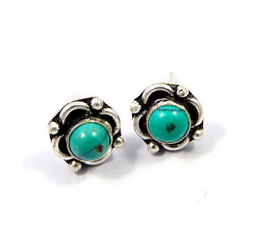 Turquoise .925 Silver Plated Handmade Stud Earring Jewelry JC8140