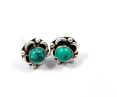 Turquoise .925 Silver Plated Handmade Stud Earring Jewelry JC8120