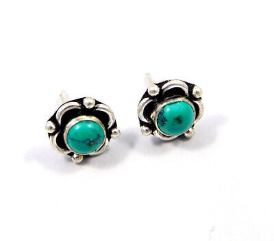 Turquoise .925 Silver Plated Handmade Stud Earring Jewelry JC8147