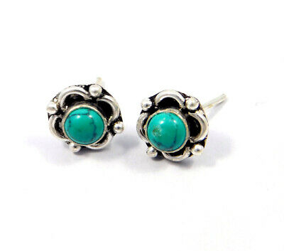 Turquoise .925 Silver Plated Handmade Stud Earring Jewelry JC8088