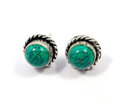 Turquoise .925 Silver Plated Handmade Stud Earring Jewelry JC8141