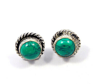 Turquoise .925 Silver Plated Handmade Stud Earring Jewelry JC8107