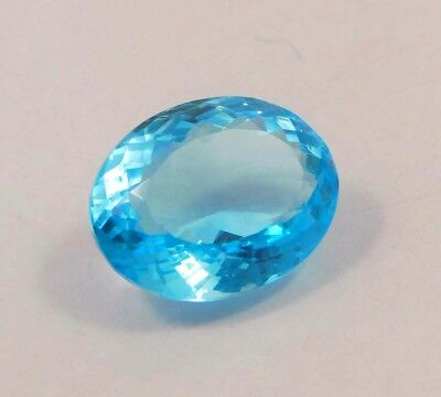 35 ct Awesome Treated Faceted Aquamrine Cab Loose Gemstones RM13805