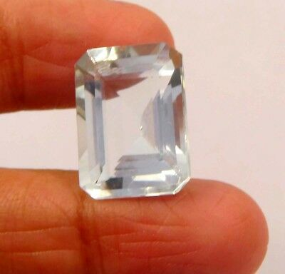 12 ct Awesome Treated Faceted Aquamrine Cab Loose Gemstones RM13883