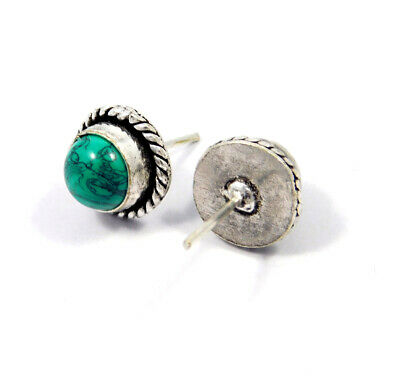 Turquoise .925 Silver Plated Handmade Stud Earring Jewelry JC8096