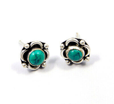 Turquoise .925 Silver Plated Handmade Stud Earring Jewelry JC8143