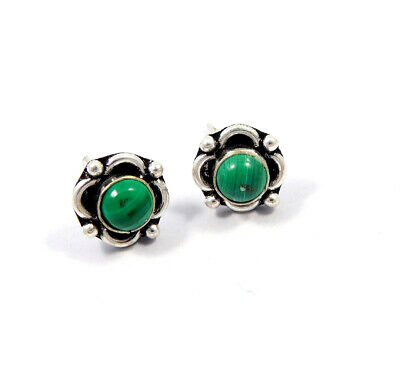 Turquoise .925 Silver Plated Handmade Stud Earring Jewelry JC8170