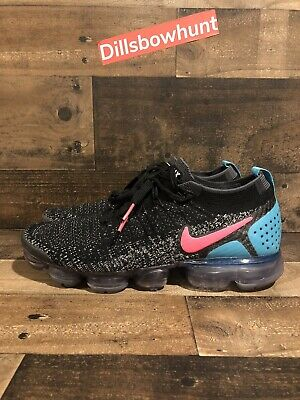 Nike Air Vapormax Flyknit 2.0 Hot Punch Black White 942842-003 Sz 9.5
