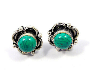 Turquoise .925 Silver Plated Handmade Stud Earring Jewelry JC8085