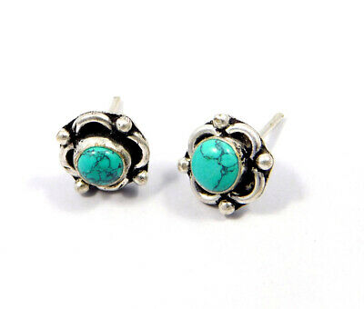 Turquoise .925 Silver Plated Handmade Stud Earring Jewelry JC8108