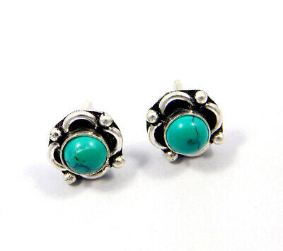 Turquoise .925 Silver Plated Handmade Stud Earring Jewelry JC8145