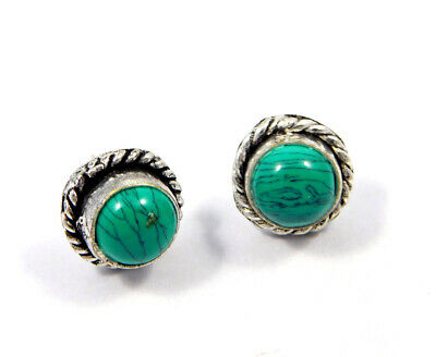 Turquoise .925 Silver Plated Handmade Stud Earring Jewelry JC8144