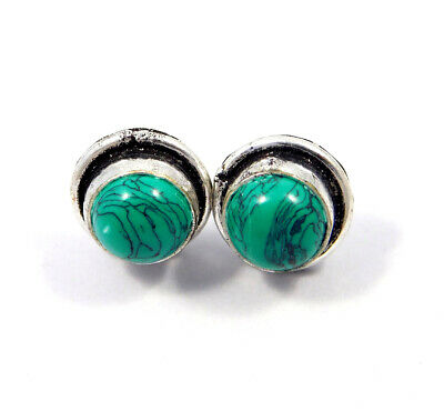 Turquoise .925 Silver Plated Handmade Stud Earring Jewelry JC8121
