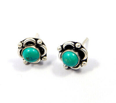 Turquoise .925 Silver Plated Handmade Stud Earring Jewelry JC8109