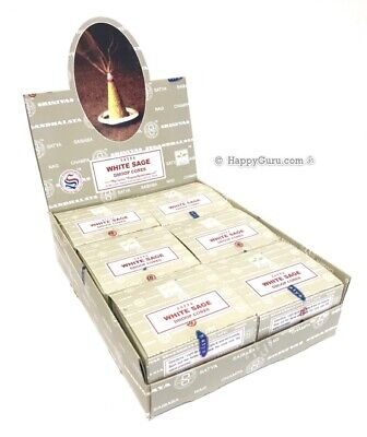 """White Sage"" 144 Incense Cones (12 Packets) Satya Shrinivas Nag Champa Dhoop ॐ"