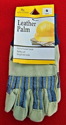 """""""Red Steer"""" ~ Children's Genuine Leather Work Gloves ~  Ages 3-6 ~ Brand New"""